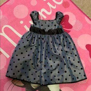 Penelope Mack gray with black dots Dress 3T